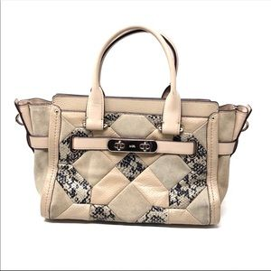 Coach rare canyon quilted swagger blush pink bag